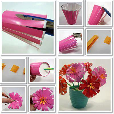 Proyectos De Reciclaje Flores Con Vasos Desechables
