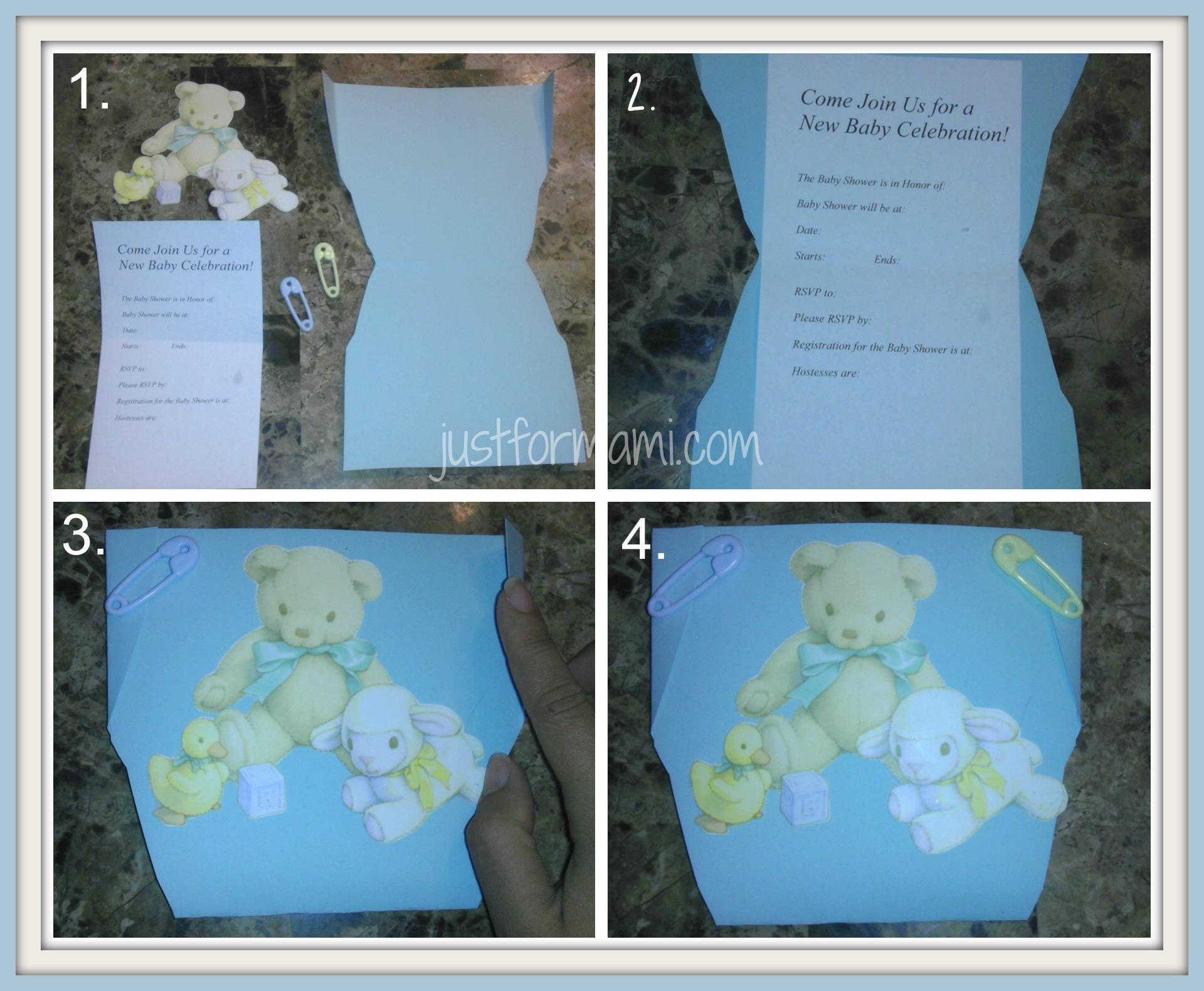 Invitación Para Baby Shower En Forma De Pañal Just For Mami