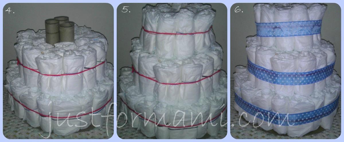 Pastel de Pañales para Baby Shower de niño: Productos de Bebé