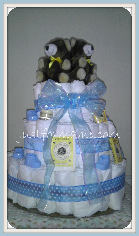 Pastel de pa ales para baby shower de ni o productos de - Decoracion de baby shower nino ...