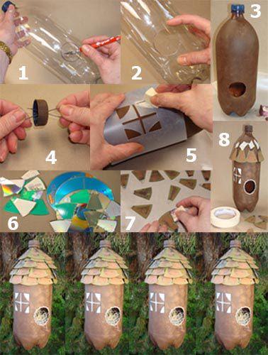 pajarera-hecha-con-botella-plástica-y-cds